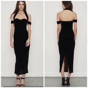 NWT Mischa Collection Angelina Velvet Dress
